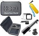 Pacote de Acessórios para Gopro Hero 5 Hero 6 Hero 7 Black White Silver Maleta grande impermeável flutuador pau de selfie...