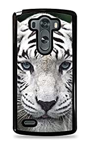 White Tiger Black Hardshell Case for LG G3