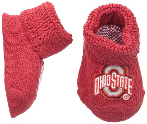 Two Feet Ahead NCAA Ohio State Buckeyes Infant Gift Box Booties, One Size, Red -