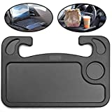 lebogner Auto Steering Wheel Desk, Laptop, Tablet, iPad Or Notebook Car Travel Table, Food Eating Hook On Steering Wheel Tray, for Constant Travelers, Fits Most Vehicles Steering Wheels