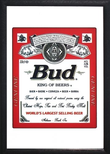 Budweiser - Bar Mirror (Bud - King Of Beers) (Size: 9