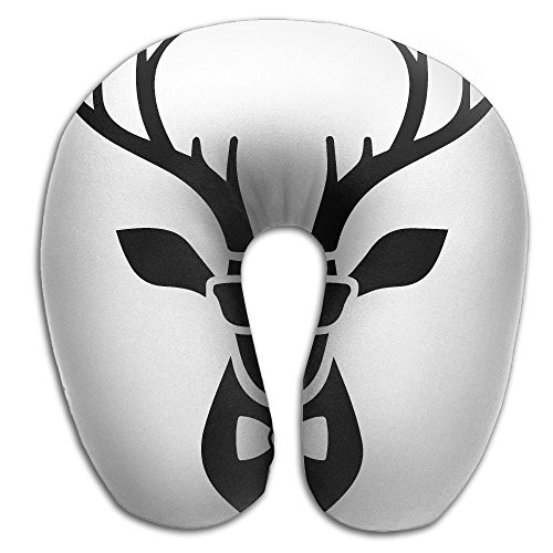 Deer Head Icon With Hipster Sunglasses And Bow Tie U Type Pillow Memory Foam Neck Pillow Relex Pollow Travel Pillow Relief Neck - Icon Store Sunglass