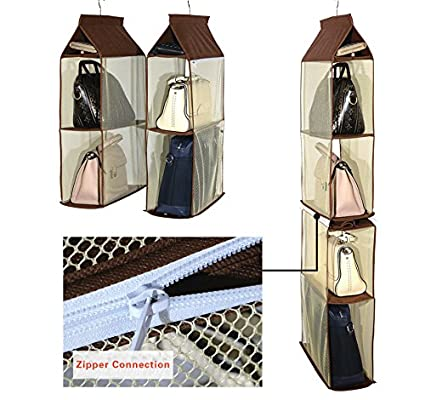 Clothing & Wardrobe Storage Hanging Organizers Storage For Purse Handbag Organizer Shoes Tote Bag Storage Organizer Pocket Hangers Home Closet Organizer Dr