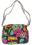 Vera Bradley Medium Flap Crossbody Purse Handbag in Jazzy Blooms