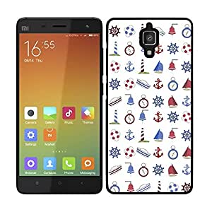 FUNDA CARCASA PARA Xiaomi MI4 DISEÑO PIN UP 4 BORDE NEGRO