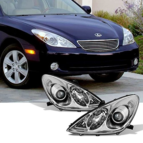 For 2005 2006 Lexus ES 330 ES330 Halogen Type Projector Headlights Left + Right Side Replacement Pair