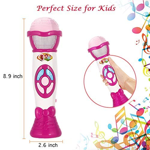Lumiparty Kids Microphone Karaoke Microphone Machine, Music Microphone,Voice Changing and Recording Microphone with Colorful Lights, Best Toys for Kids Girls Toddlers.(Pink) by Lumiparty (Image #2)
