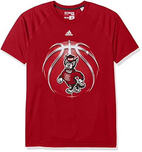 adidas NCAA North Carolina State Wolfpack Mens Light Ball Ultimate S/Teelight Ball Ultimate S/Tee, Power Red, Medium