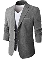H2H Mens Fashion Linen Blazer of Various Colors Single Button