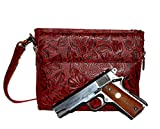 Gun Tote'n Mamas - Concealed Carry Purse - Leather - Tooled American Cowhide (Cherry)