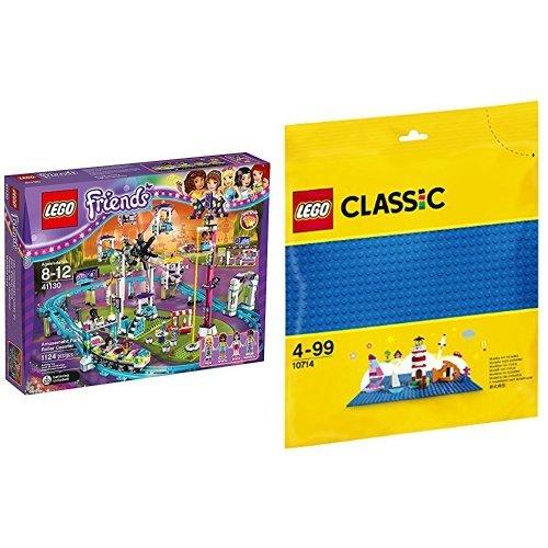 LEGO 친구 놀이 공원 롤러 코스터 41130 & 클래식 페널 (블루) 10714