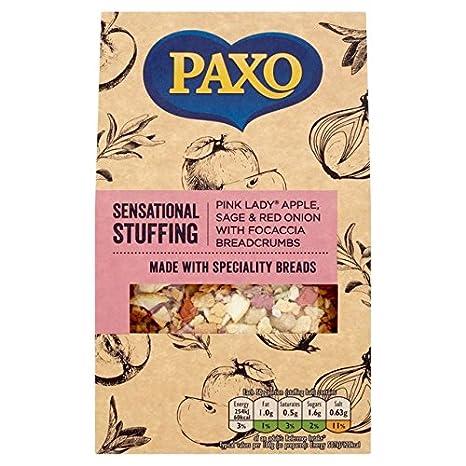 Amazon.com: Paxo Sage, cebolla y manzana relleno Mix 130 g ...