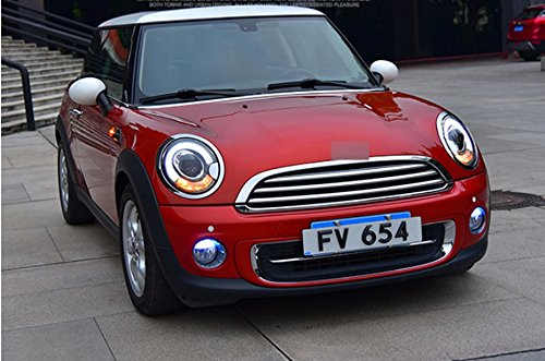 GOWE Car Styling Car Styling For BMW mini R56 headlights 2007-2013 For R56 head lamp led DRL front Bi-Xenon Lens Double Beam Color Temperature:5000k;Wattage:35w 1