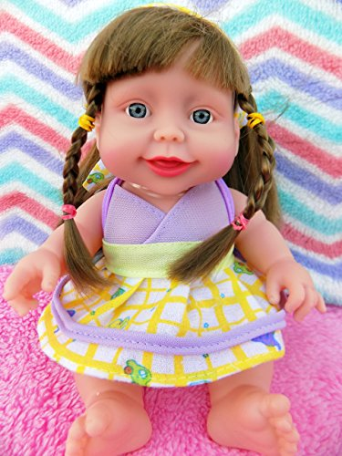 """Baby Girl Real Life Doll 10"""" Inches Fruit Scented Blue Eyes 6 Sounds Clothes Talking Toy Fun Play Vivid Press My ()"""