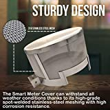 Upgraded Smart Meter Shield, Faraday Cage for Smart Meter, Smart Meter Cover RF Radiation Shield, Stainless Steel 316, EMF Cover 7x4.5 inches 100 Mesh Count Smart Meter Protection with Screw