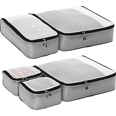 eBags Ultralight Packing Cubes - Super Packer 5pc Set (Grey)