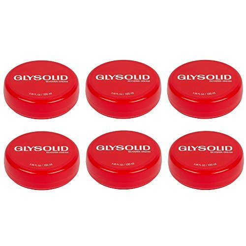 6 Glysolid Glycerin Cream for Skin Jar 3.38 Oz