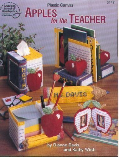 Plastic Canvas Apples for the Teacher