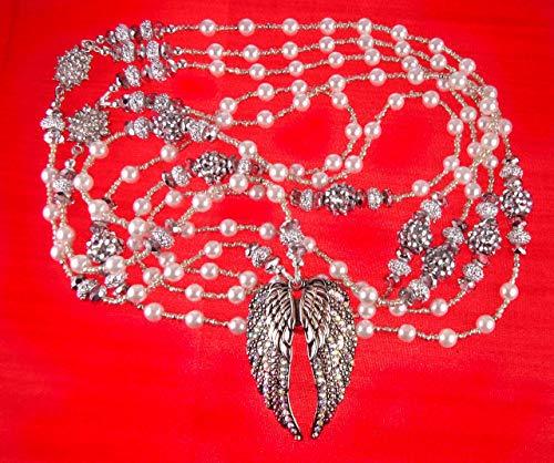 Non Catholic Wedding Lasso el Lazo de Boda Non Religious, Handmade Non Denominational White Pearl and Silver Tones