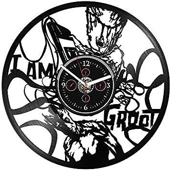 Amazon Com Vinyl Record Wall Clock With Acrylic Stickers I Am Groot