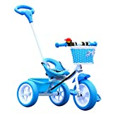 Qianle #0054 1-4 Years Old Kids Tribike Tricycle One Size,Blue,1 Set