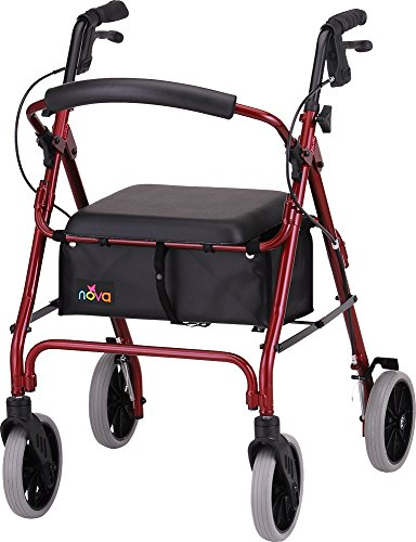 NOVA 22'' Zoom Rollator Walker, Red by NOVA Medical Products