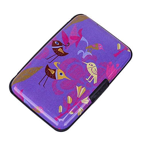 Elfish Mini RFID Aluminum Wallet Credit Cards Holder Metal ID Case for Men Women (Color38)