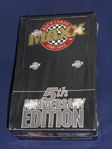 - 1992 MAXX Racing Cards 5th Anniversary Sealed Black Box (36 Packs/14 Cards)