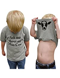 Staron Baby Clothes Boy Funny Ask Me About My Moo Cow Inside Cute Cotton Tops T-Shirt