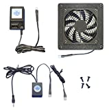 AV Cabinet 12 Volt Trigger Controlled Cooling Fan System, with Multi-speed Fan