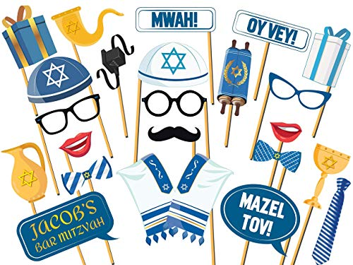 Bat Mitzvah PhotoBooth Frame Prop, Bar Mitzvah, Bat Mitzvah Photo Booth Props, Bat Mitzvah Photo Props, Bat Mitzvah Gifts, Bar Mitzvah Party, Handmade Party Supply Photo Booth Props sizes 36x24