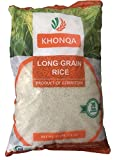 KHONQA Organic Premium Long Grain Rice Laser Product of Uzbekistan 15 lb/6.8 Kg - Naturally grown and hand picked - Supports a healthy heart and a well-balanced diet - Imported from Uzbekistan