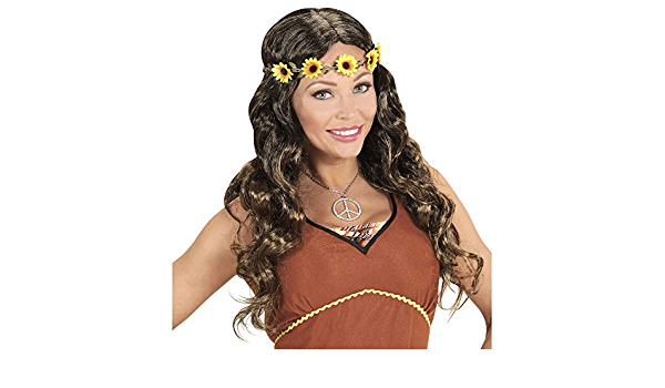 One Size Widmann perruque Hippie