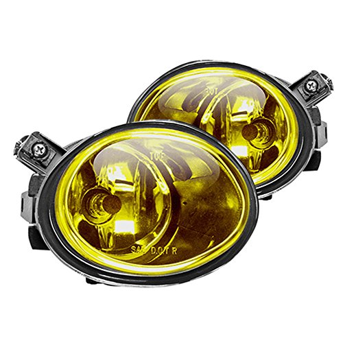 Winjet WJ30-0081-12 OEM Series for BMW [2001-2006 E46 M3] [2000-2003 E39 M5] [2003-2005 330i/330Ci] Yellow Lens Driving Fog Lights