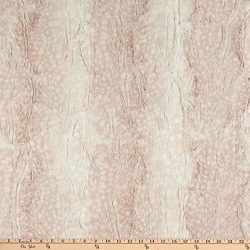 Shannon Minky Luxe Cuddle Fawn Rosewater Fabric by the Yard