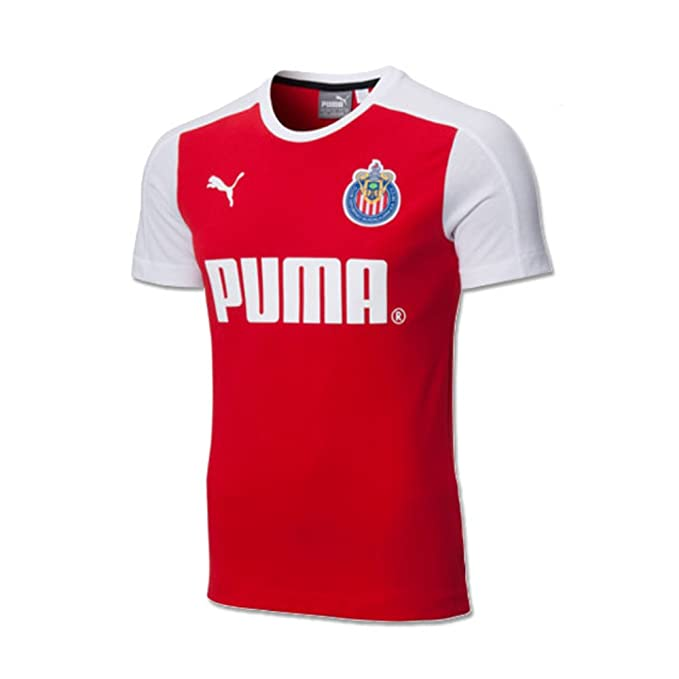 e276a8221db Amazon.com   Puma Chivas de Guadalajara T-Shirt (Red White) (S ...