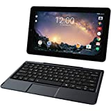 2018 RCA Galileo Pro 2-in-1 11.5-Inch Touchscreen Tablet PC, Intel Atom Quad-Core Processor, 1GB RAM, 32GB SSD, WIFI, Bluetooth, Webcam, Detachable Keyboard, Android 6.0 (Marshmallow), Black