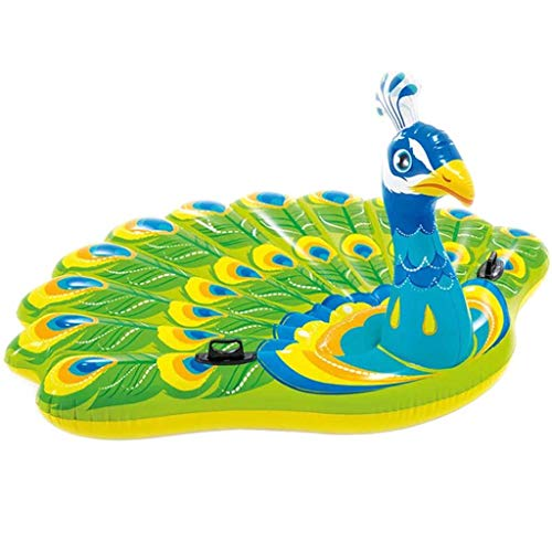 XIANAER Outdoor Parent-Child Summer Fun Outdoor Swimming Pool Floating with Canopy Floating in Water Peacock Fun