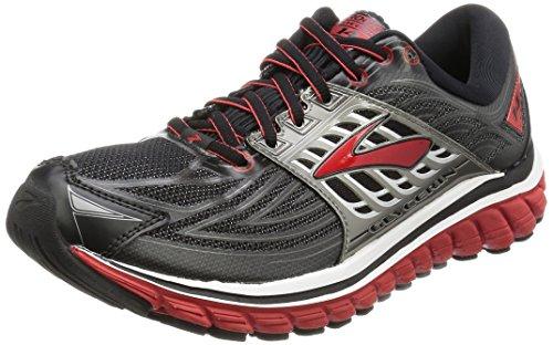 Brooks Men's Glycerin 14 Running Shoes Black/High Risk Red/Anthracite 8 D(M) US