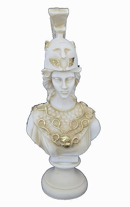 Atenea Pallas Escultura Bust Minerva Antiguo Diosa Griega Antiguo Artesanía