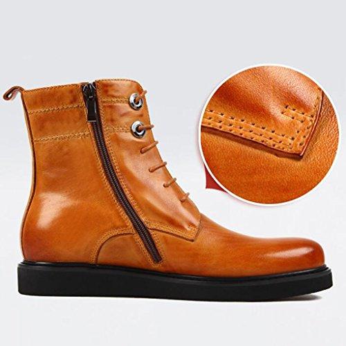 4987689849ec ... Herren Lederschuhe Herren Lederstiefel Tide Schuhe Kurze Martin Stiefel  British Style Army Tooling Stiefel Herrenschuhe ...