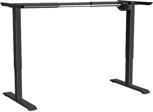 EleTab Electric Standing Desk Frame Electric Single Motor Height Adjustable Ergonomic Sit Stand Desk Legs Workstation Base Black Frame Only