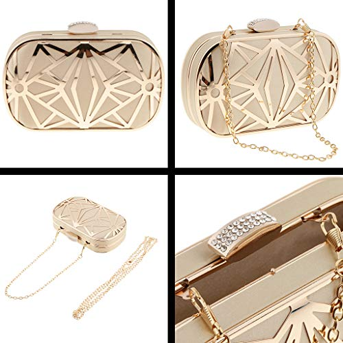 Bag Prom Wedding Bag Handbag Hollow Clutch Satin Metal Gold Evening Women��s Graceful Smart Bridal Fityle 1S78wq