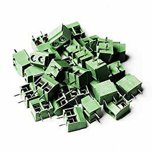 massmall 30Pcs 2 Pole 5mm Pitch PCB Mount Screw Terminal Block 8A 250V for PCB Board