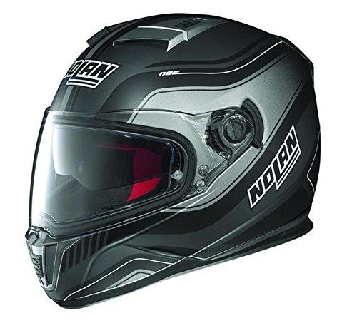Nolan N-86 Deep Non N-Com Helmet, Distinct Name: Flat Lava/Black, Gender: Mens/Unisex, Helmet Category: Street, Helmet Type: Full-face Helmets, Primary Color: Black, Size: XS N8R5273310197