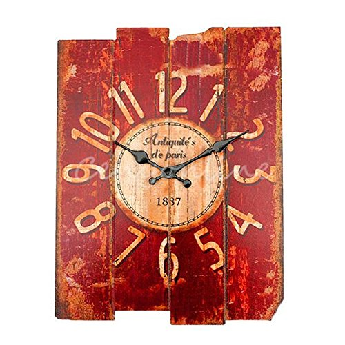 Newest Vintage Designed Rustic Wall Clock Shabby Chic Home