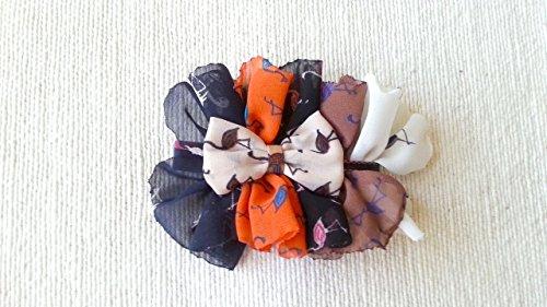 Chiffon hair bow, alligator hair clip (Tuxedo Chiffon)
