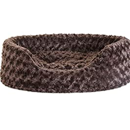 Furhaven Pet Dog Bed | Round Oval Cuddler Nest Lounger Pet Bed for Dogs & Cats – Available in Multiple Colors & Styles
