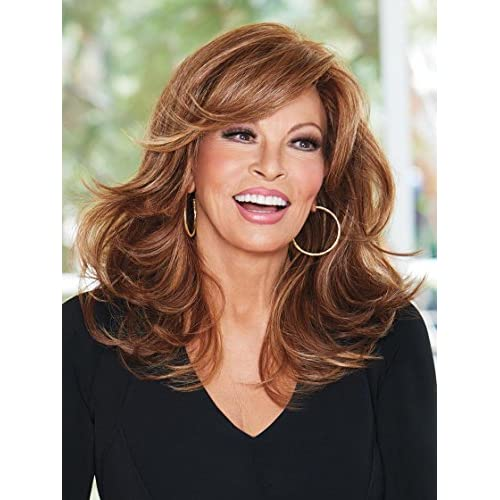 "Discount Curve Appeal Wig Color RL19/23SS SHADED BISCUIT - Raquel Welch Wigs 12"" Long Layered Waves Lace Front Heat Friendly Women's Synthetic Hand Tied Monofilament Part free shipping"