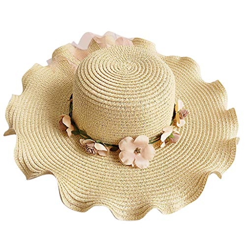 GREFER Hats Leisure Straw Cap Holiday Fisherman's Cap